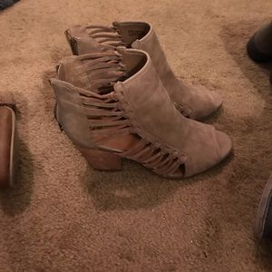 Strapped booties